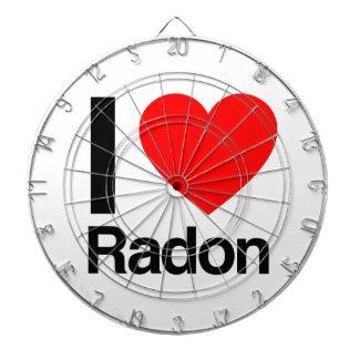 i love radon dartboard with darts