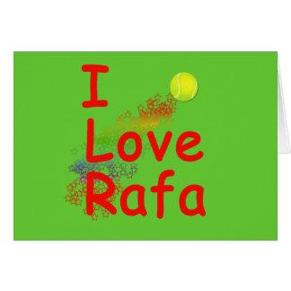 I Love Rafa Tennis Design Greeting Card