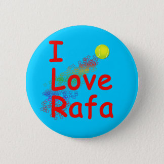 I Love Rafa Tennis Design Pinback Button