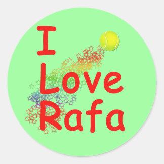 I Love Rafa Tennis Design Round Sticker