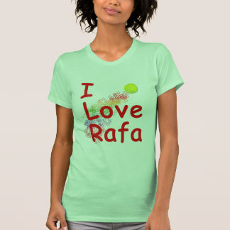 I Love Rafa Tennis Design Tee Shirt