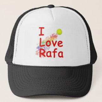 I Love Rafa Tennis Design Trucker Hat
