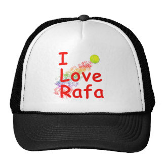 I Love Rafa Tennis Design Trucker Hat