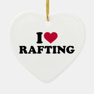 I love rafting ceramic ornament
