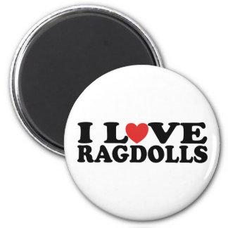 I Love Ragdoll Cats Refrigerator Magnets