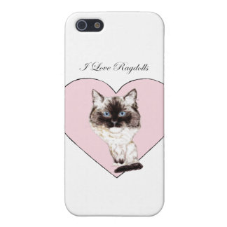 I Love Ragdolls Cover For iPhone SE/5/5s