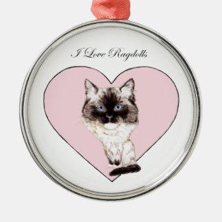 I Love Ragdolls Christmas Ornaments