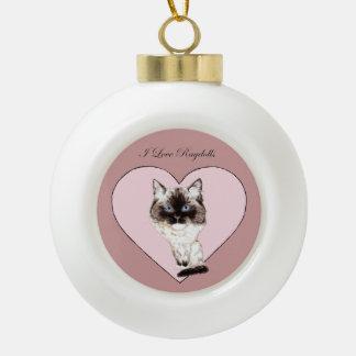 I Love Ragdolls Ornaments