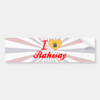 I Love Rahway, New Jersey Car Bumper Sticker