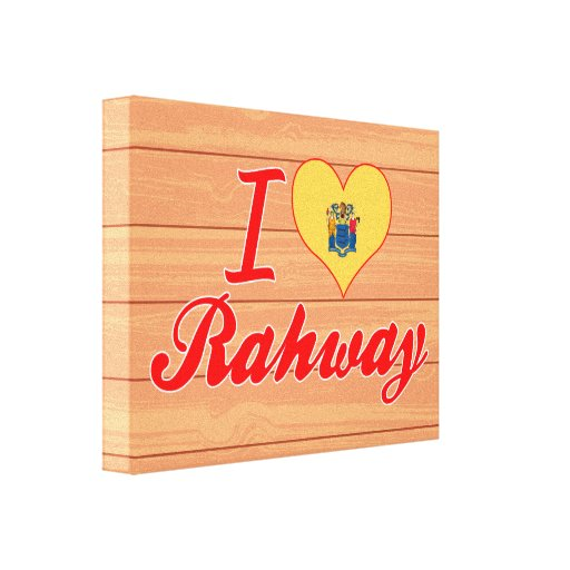 I Love Rahway, New Jersey Canvas Print