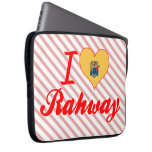 I Love Rahway, New Jersey Laptop Computer Sleeve