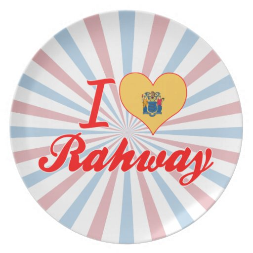 I Love Rahway, New Jersey Party Plates