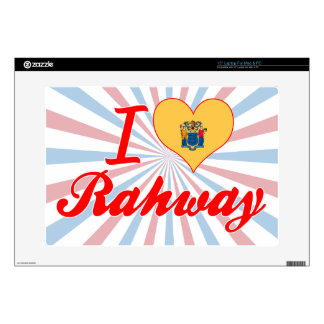 """I Love Rahway, New Jersey 15"""" Laptop Decal"""