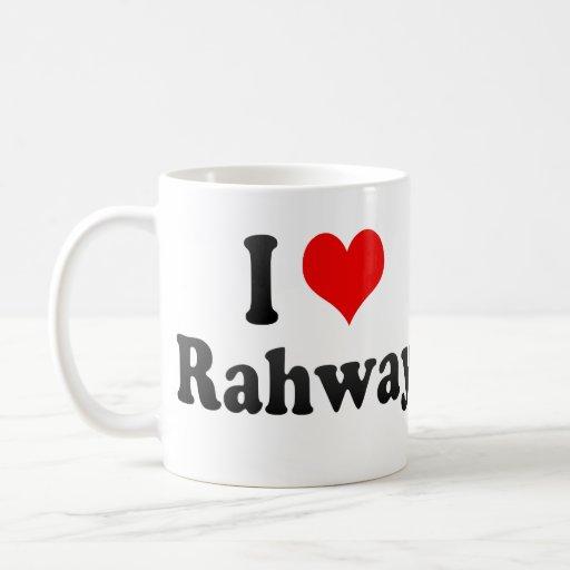 I Love Rahway, United States Classic White Coffee Mug