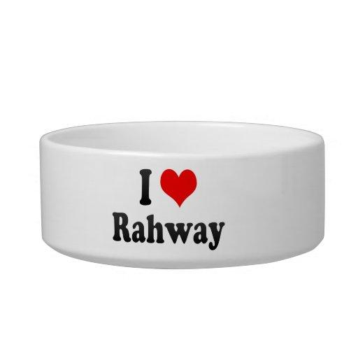 I Love Rahway, United States Pet Bowls