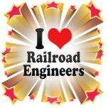 I Love Railroad Engineers Cut Out