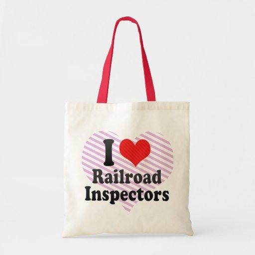 I Love Railroad Inspectors Bag