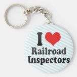 I Love Railroad Inspectors Key Chain