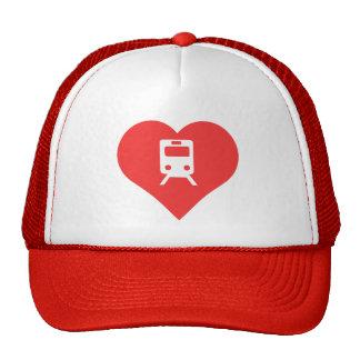 I Love Railroads Icon Trucker Hat