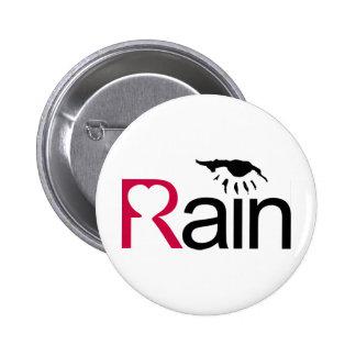 I Love Rain 2 Inch Round Button