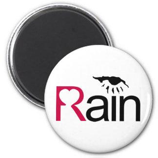 I Love Rain 2 Inch Round Magnet