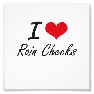 I Love Rain Checks Photo Print