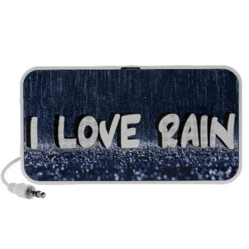 I Love Rain Doodle Travelling Speakers
