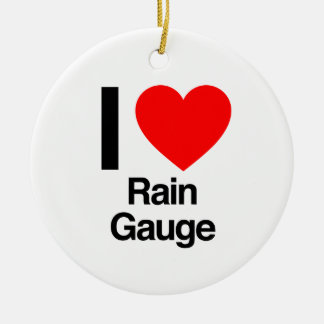 i love rain gauge christmas ornaments