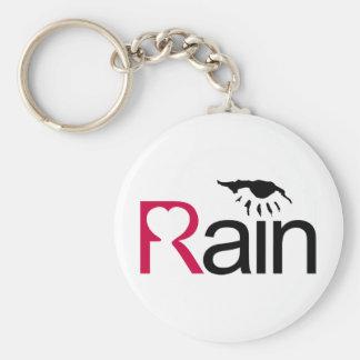 I Love Rain Keychain