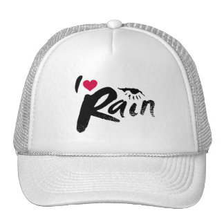 I Love Rain Mesh Hat