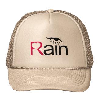 I Love Rain Mesh Hats
