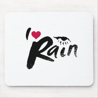 I Love Rain Mouse Pad