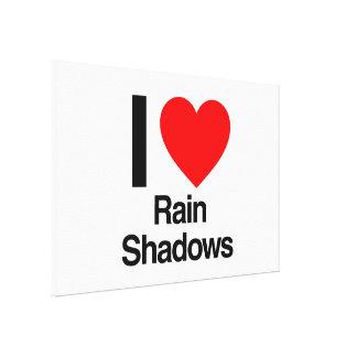 i love rain shadows canvas print