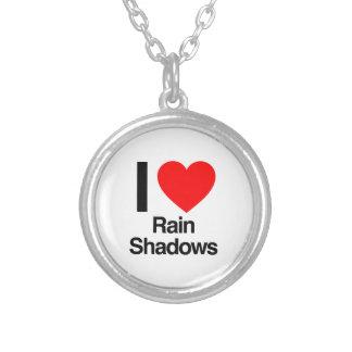 i love rain shadows round pendant necklace