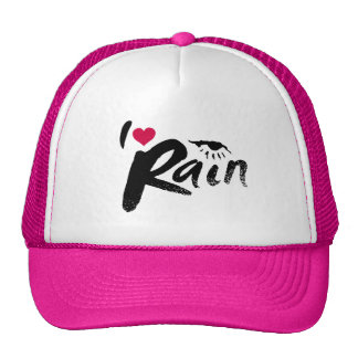 I Love Rain Trucker Hats