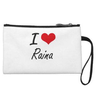 I Love Raina artistic design Wristlets