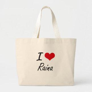 I Love Raina artistic design Jumbo Tote Bag