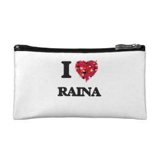 I Love Raina Cosmetics Bags