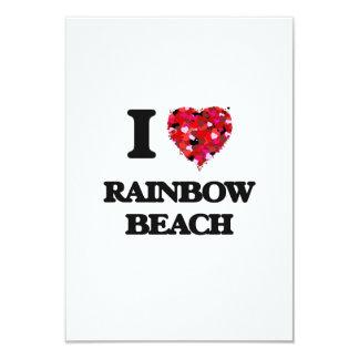 I love Rainbow Beach Illinois 3.5x5 Paper Invitation Card