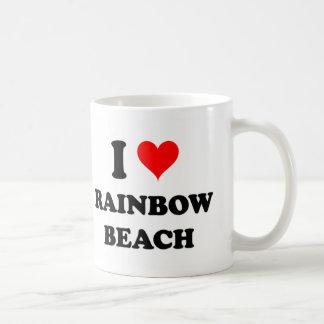 I Love Rainbow Beach Illinois Coffee Mugs