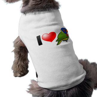 I Love Rainbow Lorikeets Dog Clothes