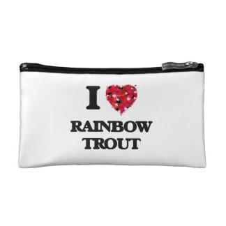 I Love Rainbow Trout food design Makeup Bags