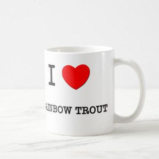 I Love RAINBOW TROUT ( food ) Classic White Coffee Mug