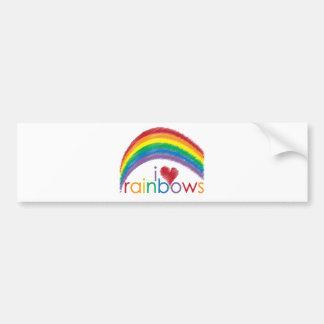 i love rainbows bumper sticker