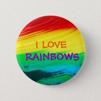 I Love Rainbows Button