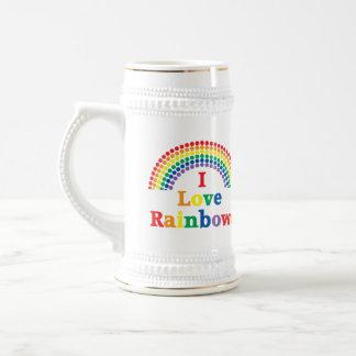 I Love Rainbows Gay Gift 18 Oz Beer Stein