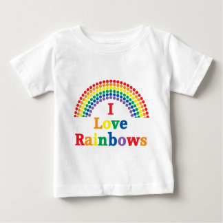 I Love Rainbows Gay Gift Baby T-Shirt