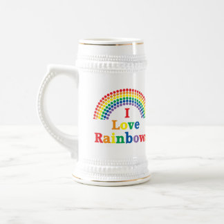 I Love Rainbows Gay Gift Beer Stein