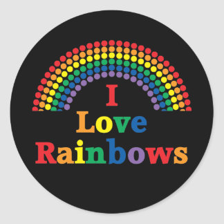 I Love Rainbows Gay Gift Classic Round Sticker