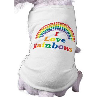 I Love Rainbows Gay Gift Dog Shirt